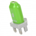 Monie ST-12 UK Plug USB 5V 1.5A Output Power Adapter - Green + Grey