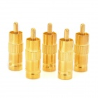 LSON RCA Male to BNC Female AV Adapter - Golden (5 PCS)