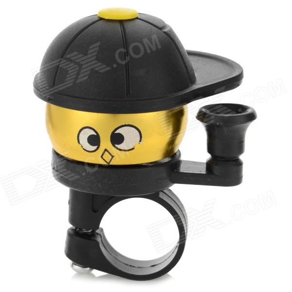 Cute Cap Boy Style Mini Bell for Bicycle - Black + Golden