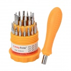 Multi-Functional 30-in-1 Manual Screwdrivers Set - Silver + Orange