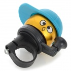 Cute Cap Boy Style Mini Bell for Bicycle - Blue + Golden + Black