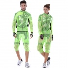 Monton 1019 Ultrathin Cycling Polyester Fiber Jacket - Black + Fluorescent Green (L)