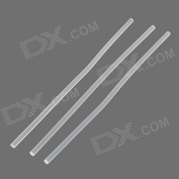 DIY 7mm Hot Melt Adhesive Glue for Motorcycle - Transparent  White (3 PCS)