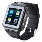IK8 1.54' Touch Screen Dual Core Android 4.04 Smart Phone Watch w/ Camera / Wi-Fi - Black + Grey