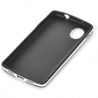 Stylish Simple Plain ABS Back Case for Samsung Galaxy S5 - Black + White