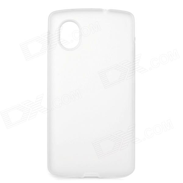 Stylish Simple Plain ABS Back Case for Samsung Galaxy S5 - White + Translucent White