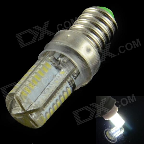 HZLED E14 1.8W 130lm 64-SMD 3014 LED Cold White Light Lamp Bulb (220V)