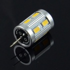 HZLED G4 1.8W 110lm 3000K 12 x SMD 5630 LED Warm White Light Lamp Bulb - White +Silver (AC / DC 12V)