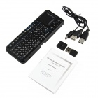 iPazzport KP-810-10A 2,4 G russo / inglese 83-chiave Wireless Keyboard con Laser Pen - nero