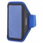 YI-YI Sports Gym PVC + Nylon Armband Case for Samsung Galaxy S5 - Blue