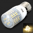 JRLED E27 4W 260LM 3300K Warm White 48-3528 SMD LED Light - White + Silver (AC 220~240V)