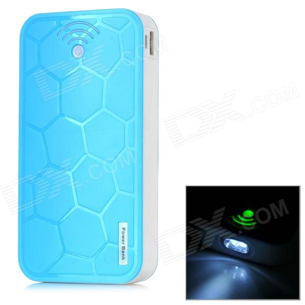 Turtle Shell Style 22000mAh Power Bank Charger w/ 2-LED Flashlight for Samsung / HTC - Blue portable 6000mah power bank w flashlight for mobile tablet pc more pink white