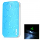 "Turtle Shell Style ""22000mAh"" Power Bank Charger w/ 2-LED Flashlight for Samsung / HTC - Blue"