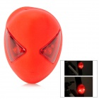32lm 3-Mode 2-LED Rechargeable Red Light Rear Lamp for Bicycle - Red