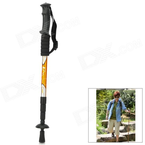 Wind Tour Outdoor 4-Section Telescopic Aluminum Alloy Trekking Pole Alpenstock - Yellow от DX.com INT
