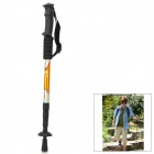 Wind Tour Outdoor 4-Section Telescopic Aluminum Alloy Trekking Pole Alpenstock - Yellow