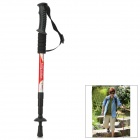 Wind Tour Outdoor 4-Section Telescopic Aluminum Alloy Trekking Pole Alpenstock - Red