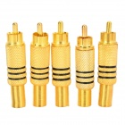 LSON RCA 339 AV Adapter w/ Spring - Golden (5 PCS)