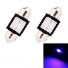 Festoon 31mm 2W 150lm COB LED Blue Light Car Reading Lamp / License Plate Light - (12V / 2 PCS)