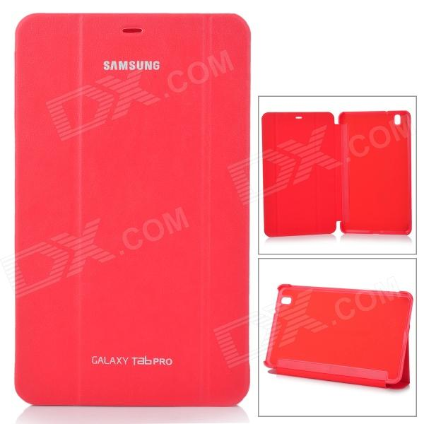 Stylish Flip-open PU Case w/ 3-fold Cover Stand for Samsung Galaxy Tab Pro T320 - Red protective pu leather flip open stand case w stylus for samsung galaxy tab pro 8 4 t320 white