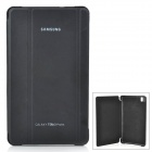 Stylish Flip-open PU Case w/ 3-fold Cover Stand for Samsung Galaxy Tab Pro T320 - Black