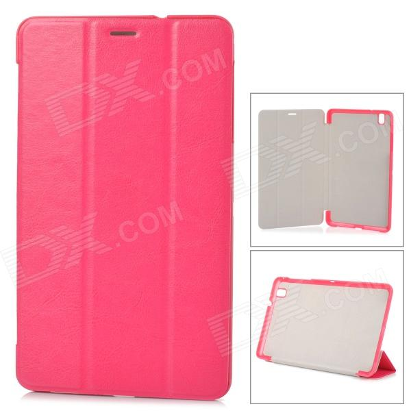 Stylish Flip-open PU Case w/ 3-fold Cover Stand for Samsung Galaxy Tab Pro T320 - Deep Pink protective pu leather flip open stand case w stylus for samsung galaxy tab pro 8 4 t320 white