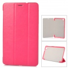 Stylish Flip-open PU Case w/ 3-fold Cover Stand for Samsung Galaxy Tab Pro T320 - Deep Pink