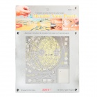 ZOYO Educational 3D Model Ferris Wheel Style Metallic Nano Puzzle - Silver