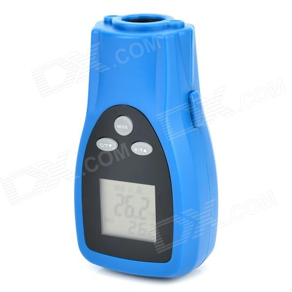 DT8350 1.5 Screen Dual Laser Infrared Thermometer - Black + Blue (2 x AAA) 1 8 lcd digital screen 50 c to 500 c infrared thermometer black orange 2 x aaa