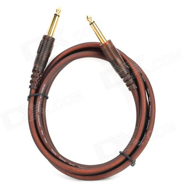 JinJiang Gold-Plated 6.5mm Male to Male Audio Connection Cable for Electric Guitar / Bass - Brown 6 35mm male to male audio connection cable for guitar bass more blue 3 meters