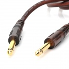 JinJiang Gold-Plated 6.5mm Male to Male Audio Connection Cable for Electric Guitar / Bass - Brown