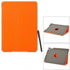 2-Fold Protective Flip-open PU + Plastic Case w/ Stylus for IPAD AIR - Orange
