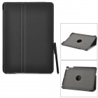 Protective 2-Fold PU Leather Case w/ Stylus for IPAD AIR - Black