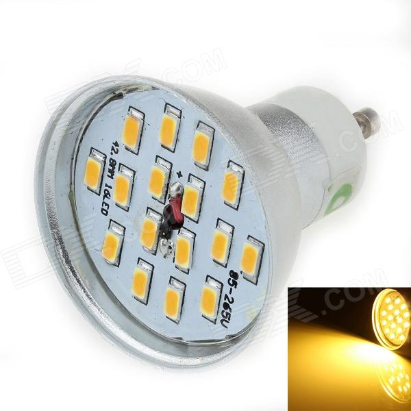 LUO DB02 GU10 8W 600lm 3000K 16 x SMD 5630 LED quente Spotlight White Light - prata ( 85 ~ 265V )