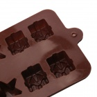 Christmas Gifts Style 12 Cups DIY Silicone Chocolate / Cake / Soap Mold - Chocolate