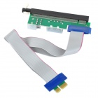 PCI-E 1X to 16X Riser Card Extension Cable w/ 4-Pin + 6-Pin Port - Grey + Black