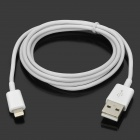 MFi Huntkey 8-Pin Lightning Male USB 2.0 Male Cable for IPHONE 6 / IPAD / IPOD - White (100cm)