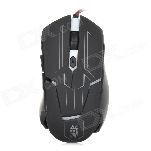 JS JS-X7 USB 2.0 Wired 1800dpi Gaming Optical Mouse - Black