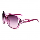 Fashionable Bowknot UV400 Protection Big Frame Sunglasses for Women - Purple + Silver