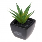 EZZE EZ-11-A Aloe Vera Deodorizing & Refreshing Activated Charcoal Diffuser - Black + Green