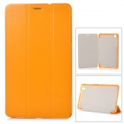 Stylish Flip-open PU Case w/ 3-fold Cover Stand for Samsung Galaxy Tab Pro T320 - Yellow