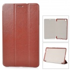 Stylish Flip-open PU Case w/ 3-fold Cover Stand for Samsung Galaxy Tab Pro T320 - Brown