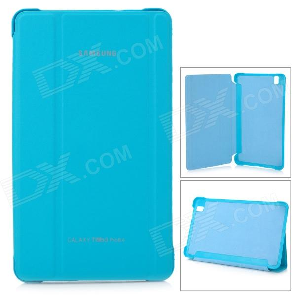 Stylish Flip-open PU Case w/ 3-fold Cover Stand for Samsung Galaxy Tab Pro T320 - Light Blue protective pu leather flip open stand case w stylus for samsung galaxy tab pro 8 4 t320 white