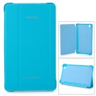 Stylish Flip-open PU Case w/ 3-fold Cover Stand for Samsung Galaxy Tab Pro T320 - Light Blue