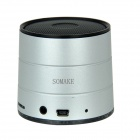 SOMAKE MK20 Stereo Bluetooth V2.1 Speaker w/ TF / FM / Microphone / Hands-Free - Silver + Black