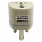 GDW DY2 Portable Travel AC Plug Power Adapter - Light Yellow (85~250V)