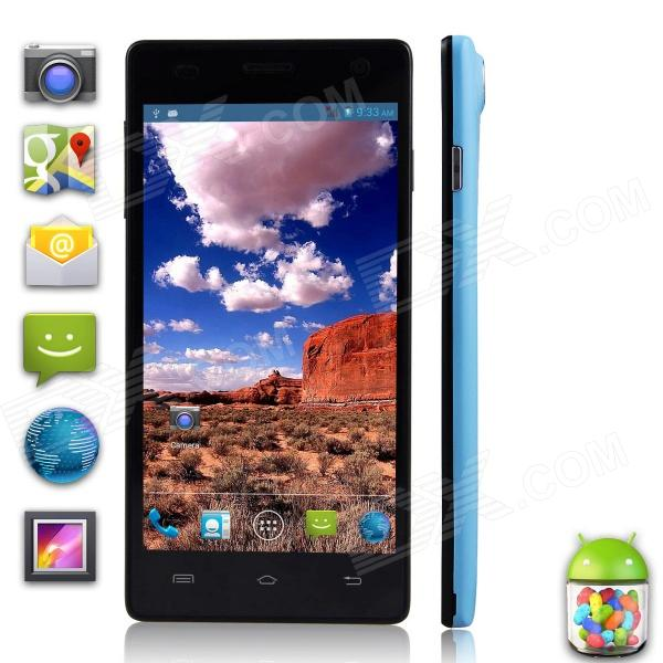 "XiaoCai X9+ MTK6582 Quad-Core Android 4.2 WCDMA Bar Phone w/ 5.0"" OGS, HD, 1GB RAM, 4GB ROM - Black"