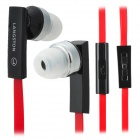 LANSHIDUN JV-04 Stylish 3.5mm Jack Wired Stereo Headset w/ Mic for Cellphone - Red + Black