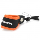 Caseman AM03-01 Convenient Neoprene + ABS Hand Strap for Camera - Black + Deep Orange