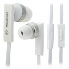 LANSHIDUN JV-04 Stylish 3.5mm Jack Wired Stereo Headset w/ Mic for Cellphone - White